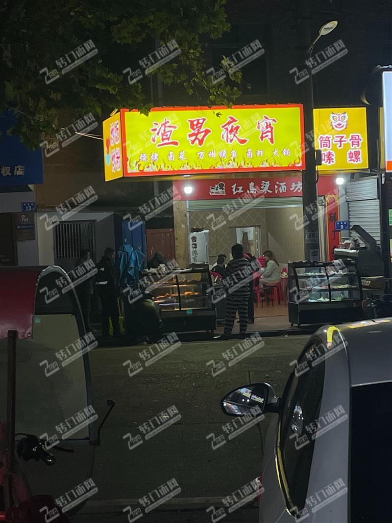 急转开福区捞刀河商业街临街58平餐饮旺铺无行业限制